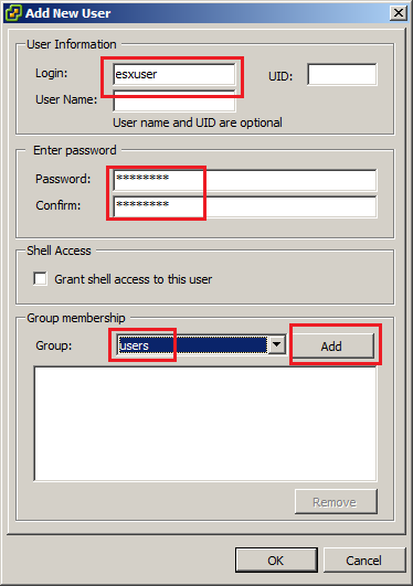 Add User Window